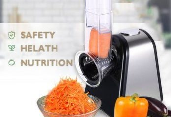 9. Homdox Salad Cheese Maker Professional Electric Shredder Slicer