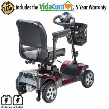 9. Phoenix 4 Wheel Heavy Duty Scooter By Drive Medical, 20 Wide Include 5 Year Protection Plan