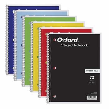 1. TOPS and Oxford 1-Subject Notebooks