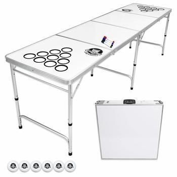 1 GoPong 8 Foot Portable Beer Pong Table (Black, Football, or Custom Dry Erase)