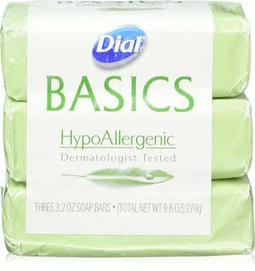 1. Dial Basics HypoAllergenic Dermatologist Tested Bar Soap