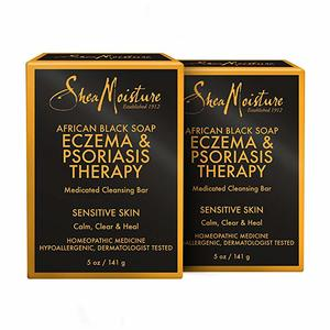 1. SheaMoisture African Black Soap Eczema & Psoriasis Therapy