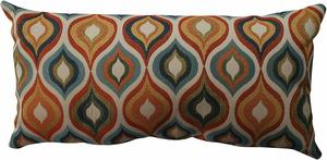 #10 Pillow Perfect Flicker Jewel Bolster Throw Pillow