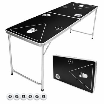 11 GoPong Portable Folding Beer Pong Table (6 balls included)