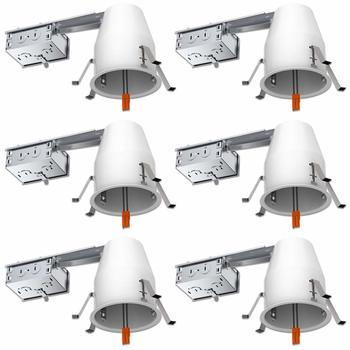 11. Sunco Lighting 4 inch Remodel LED Recessed Lighting, IC Rated, UL Listed, 6 Pack