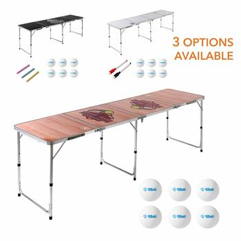 12 8 Foot Beer Pong Table WOOD GRAIN by Rally and Roar - Official