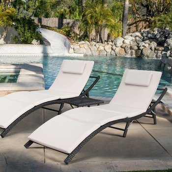 12. Devoko Patio Chaise Lounge Sets