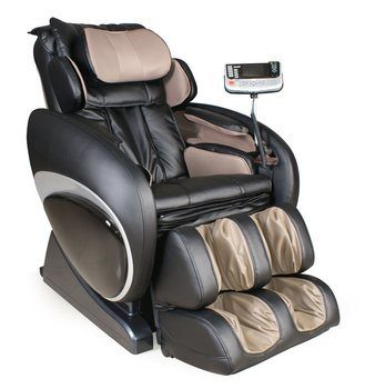 2 OS-4000 Zero Gravity Massage Chair Upholstery Brown and Black