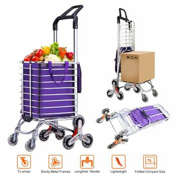 2. AmnoAmno Folding Shopping Cart