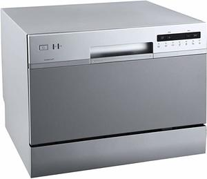 #2. EdgeStar DWP62SV Portable Compact Countertop Dishwasher 6 Place Setting, Silver