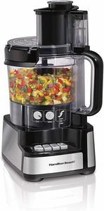 2. Hamilton Beach 12-Cup Stack & Snap Food Processor