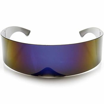 2. zeroUV - 80s Futuristic Cyclops Cyberpunk Visor Sunglasses