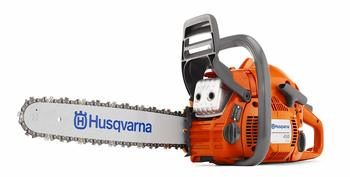 4 Husqvarna 450 18-Inch 50.2cc X-Torq 2-Cycle Gas Powered Chain Saw With Smart Start
