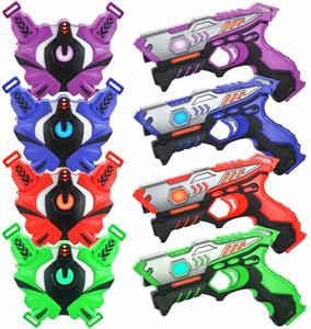 4 Laser Tag Guns with Vests Infrared Guns - Laser Tag Guns