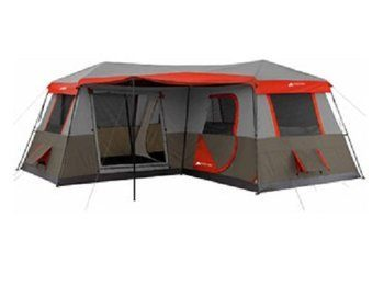 4 Ozark Trail 16x16-Feet 12-Person 3 Cabin Tent with Pre-Attached Poles