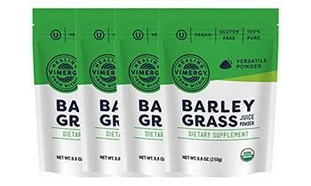 4. Vimergy USDA Organic Barleygrass Juice Powder (250g) X 4 Bags