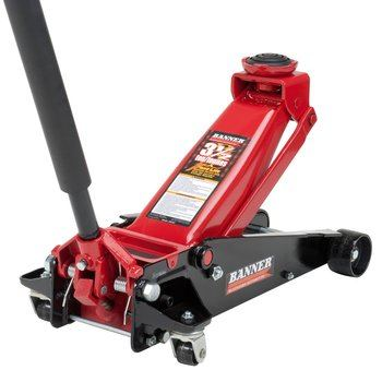 5 Blackhawk B6350 Black Red Fast Lift Jack - 3.5 Ton Capacity
