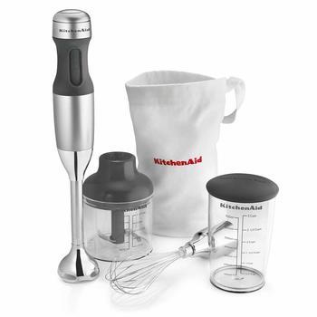 5 KitchenAid KHB2351CU 3-Speed Hand Blender - Contour Silver, 8 inches