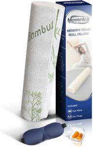 #5 Moventur Bamboo Neck Roll Pillows
