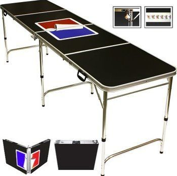 5 Red Cup Pong Portable Beer Pong Beirut Game Table - 8 Feet Long with Custom Bottle Opener