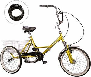 5. Hiram Adult Tricycle Trike Cruise Bike Three-Wheeled Bicycle