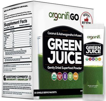 5. Organifi GO Packs - Organic Superfood Supplement Powder