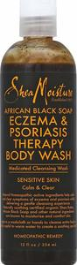 5. Shea Moisture African Black Soap Eczema Psoriasis Medicated Cleanser