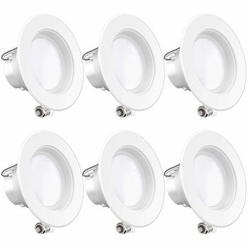 5. Sunco Lighting 4 Inch LED Recessed Downlight, Dimmable LED, and 11W=40W