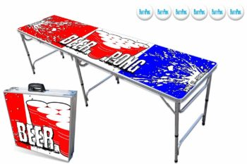 6 PartyPongTables.com 8-Foot Beer Pong Table Optional Cup Holes & LED Lights
