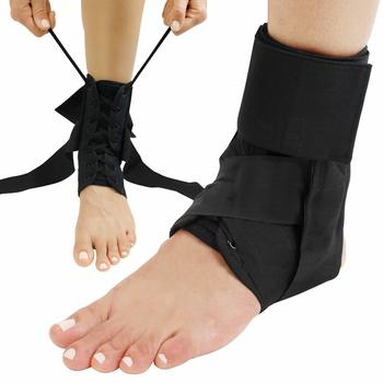 6 Vive Lace-up Ankle Brace - Men - Sprained Adjustable Leg Splint - Sprain Immobilizer Wrap
