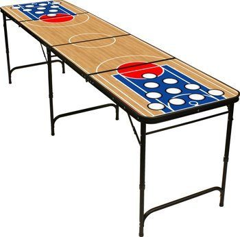 8 8' Folding Beer Pong Table Ball Rack and 6 Pong Balls - By Red Cup Pong