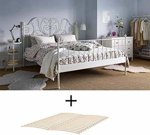 #8 IKEA Full Size Metal Country Style Bed Frame with Slatted Base