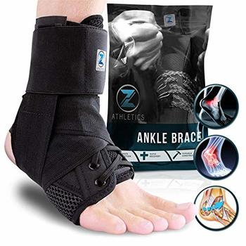 8 Zenith Ankle Brace, Lace-up Adjustable Support – for Running, Basketball, Injury