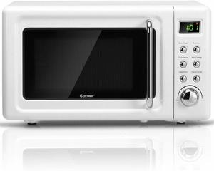 8. COSTWAY Retro Countertop Microwave Oven