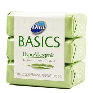 8. Dial Basics Hypoallergenic Bar Soap 3.2 Oz - 3 Pack