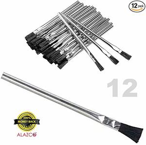 9. 12pc ALAZCO 6 Long 3 8 Acid Brushes Flexible Horsehair Bristles