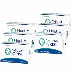 9. 6pk - Neutral Soap - Hypoallergenic - Jabon Neutro G�� Grisi