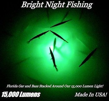 9. Bright Night Fishing Light 15,000 lumens 300 LED Green 360 degree Underwater 12v 110v