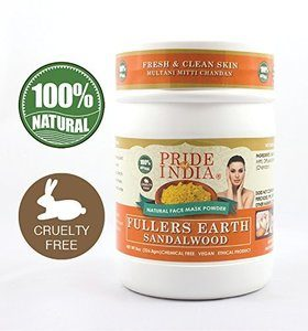 #9. Pride of India Deep Cleansing Indian Earth Clay Face Mask Powder with Sandalwood