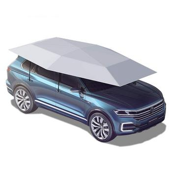 9. Semi-Automatic Car Tent Movable Carport