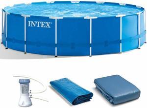 #7 Intex Metal Frame Pool Set