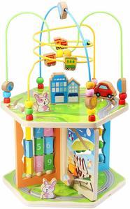 #9 ZONXIE Wooden Baby Activity Play Cube Bead