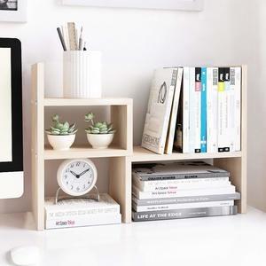 #1 Jerry & Maggie - Desktop Organizer Office Storage Rack Adjustable Wood Display Shelf