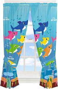 #10 Franco Kids Room Window Curtain Panels with Tie Backs Drapes Set