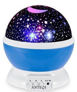 10. Night Light Projector 360 Degree Bedroom Lamp