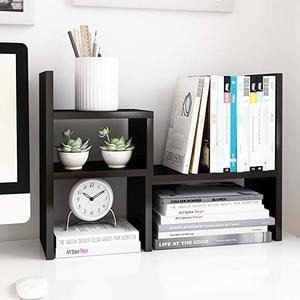 #2 Jerry & Maggie - Desktop Organizer Office Storage Rack Adjustable Wood Display Shelf