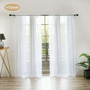 #8 Anjee Sheer White Curtains