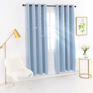 #9 MANGATA CASA Kids Star Blackout Curtains Grommet Thermal 2 Panels for Bed Room