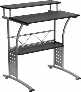 #01- Flash Furniture Clifton Black Computer Desk