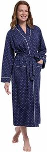 #02- PajamaGram Long Women's Cotton Robes
